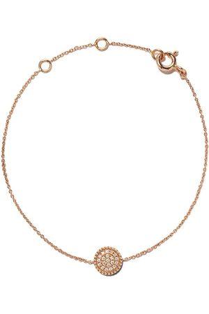 AS29 18kt rose Mye round beading pave diamond bracelet