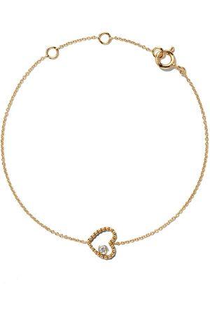 AS29 18kt yellow Mye heart beading diamond bracelet