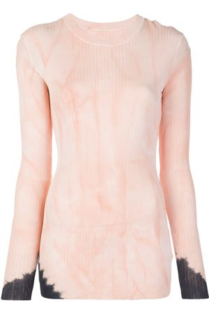 Proenza Schouler Dipped Tie Dye Long Sleeve Knitted Top