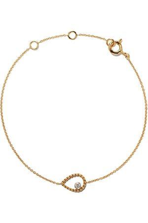 AS29 18kt yellow Mye pear beading diamond bracelet