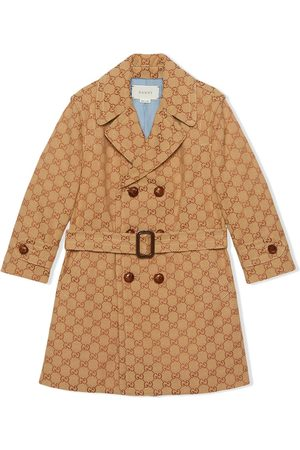 Gucci Boys Coats - Monogram print double breasted coat