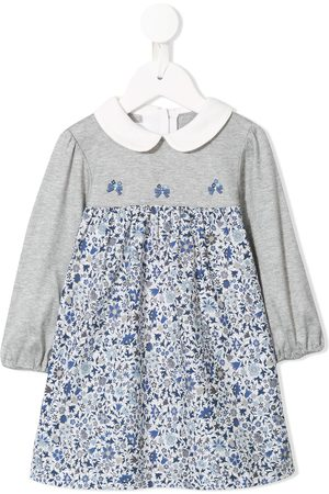 Familiar Baby Casual Dresses - Floral print long sleeve dress