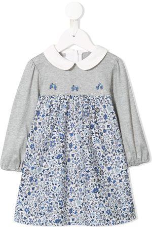 Familiar Floral print long sleeve dress