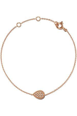 AS29 18kt rose Mye pear beading pave diamond bracelet