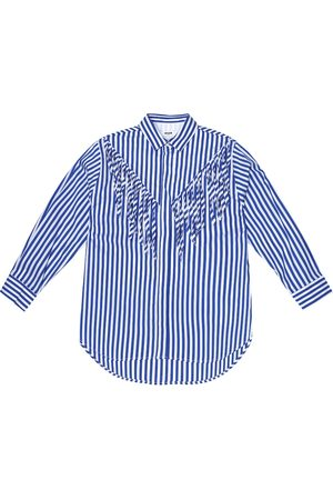 Msgm Striped cotton-blend shirt