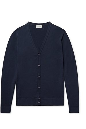 JOHN SMEDLEY Men Cardigans - Petworth Merino Wool Cardigan