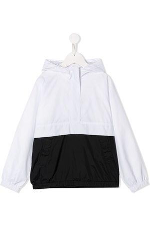 Karl Lagerfeld Hooded contrast windbreaker jacket
