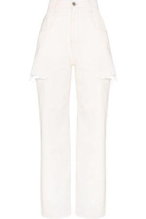 Maison Margiela High-rise distressed jeans