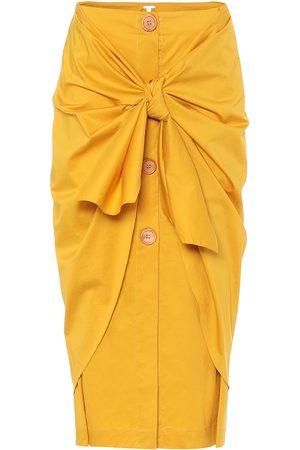 JOHANNA ORTIZ Stretch-cotton midi skirt