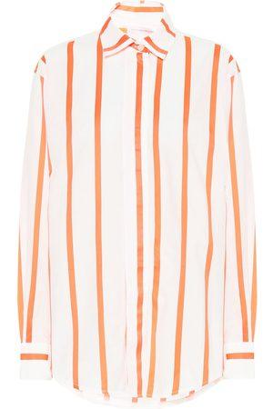 Victoria Beckham Striped cotton-blend shirt