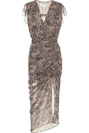 VERONICA BEARD Women Printed Dresses - Teagan printed silk midi dress