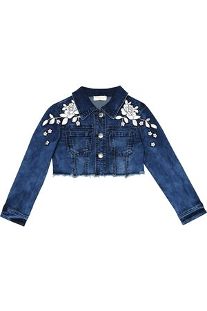 MONNALISA Girls Denim Jackets - Appliquéd denim jacket