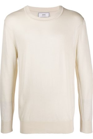 Ami Paris Men Jumpers - Men Ami Embroidery Crewneck Sweater