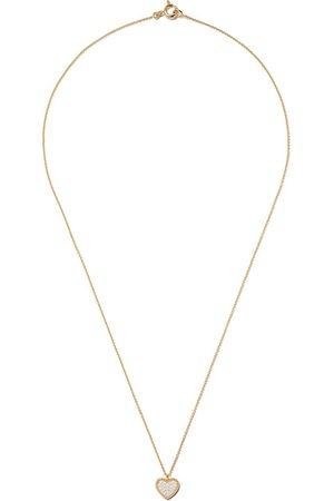 AS29 18kt yellow Mye heart beading pave diamond necklace