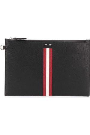 Bally Stripe trim pouch