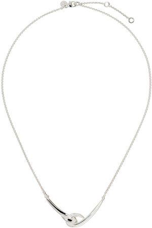 SHAUN LEANE Hook white diamond necklace
