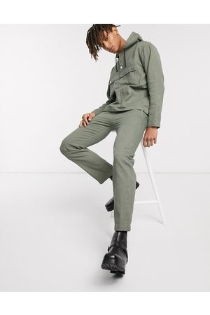Sacred Hawk Relaxed drill trousers in