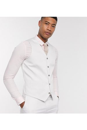 ASOS Tall wedding slim suit waistcoat in light stretch cotton