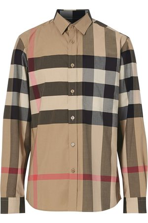 Burberry Men Casual - Oversized check shirt