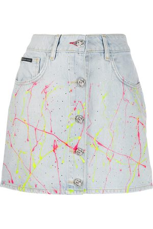 Philipp Plein Hot n' cold denim skirt