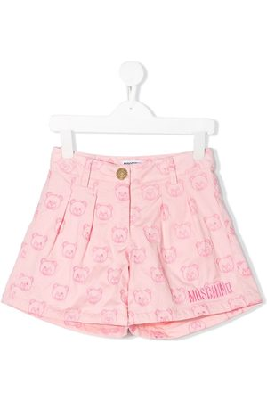 Moschino Embroidered teddy bear shorts