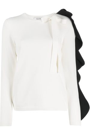 VALENTINO Frilled sleeve knitted top