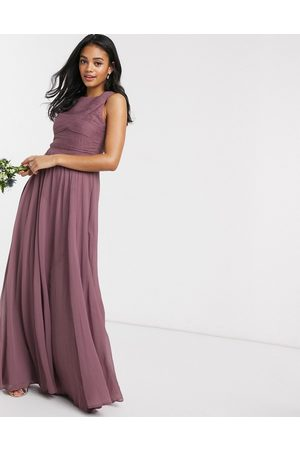 ASOS Women Maxi Dresses - Bridesmaid maxi dress with soft pleated bodice