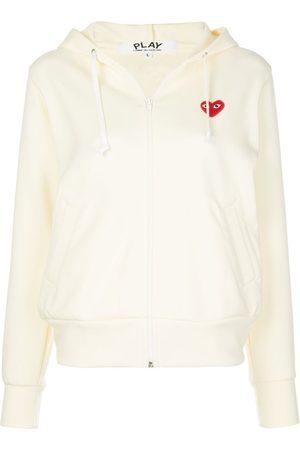 Comme des Garçons Women Hoodies - Heart-patch zip-up hoodie