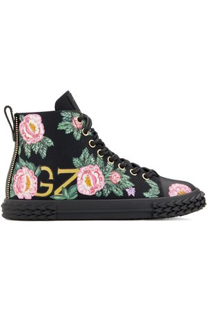 Giuseppe Zanotti Floral high-top sneakers