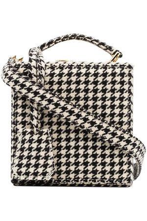 Natasha Zinko And white tweed wool box bag