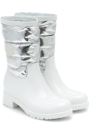 Moncler Gisele metallic rain boots