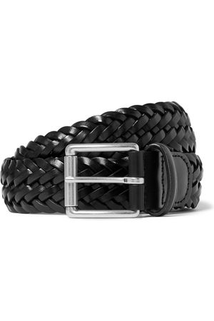 Anderson's 3.5cm Woven Leather Belt