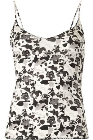 Chanel Pre-Owned 2005 Camellia print camisole