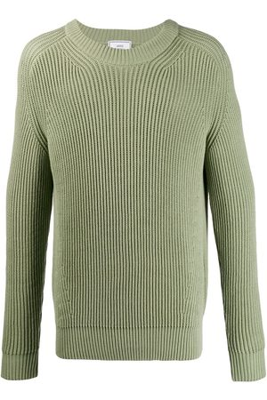 Ami Ribbed roll-neck knitted sweater