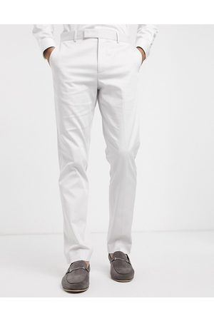 ASOS Wedding slim suit trousers in light stretch cotton