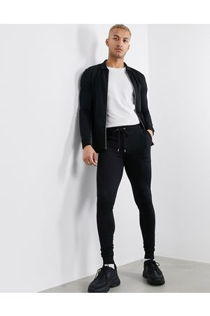 ASOS Muscle tracksuit with harrington jacket in