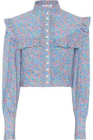 Paco rabanne Floral cotton blouse