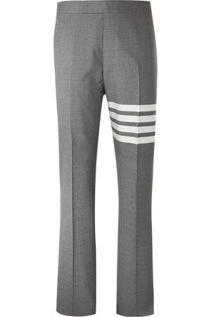 Thom Browne Men Formal Pants - Slim-Fit Tapered Striped Wool Suit Trousers