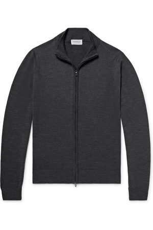 JOHN SMEDLEY Men Hoodies - Claygate Merino Wool Zip-Up Cardigan