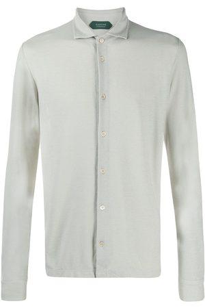 ZANONE Fine knit buttoned shirt