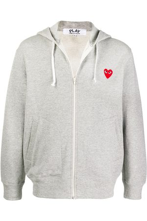 Comme des Garçons Logo embroidered zipped hoodie