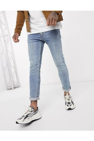 Levis Levi's Youth 519 super skinny fit hi-ball roll jeans in pickles advanced stretch light wash