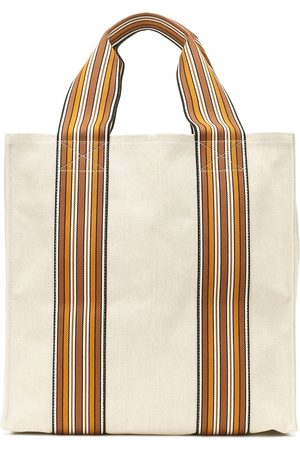 Loro Piana The Suitcase Stripe Medium tote