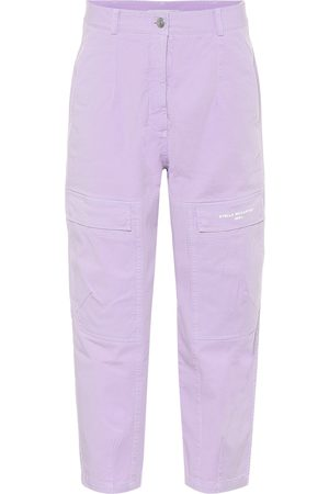 Stella McCartney Women Stretch Pants - Stretch-cotton high-rise pants
