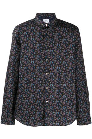 PS Paul Smith Long-sleeved floral-print shirt