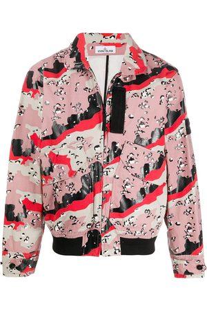 Stone Island Men Jackets - Abstract print jacket