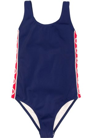 Gucci Kids Appliqué stripe swimsuit