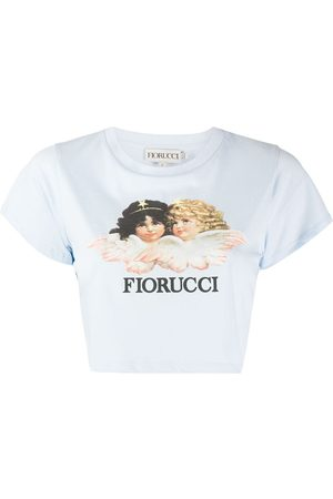 Fiorucci Women Short Sleeve - Vintage Angels cropped T-Shirt