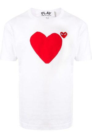 Comme Des Garçons Play Men Short Sleeve - Heart print logo T-shirt