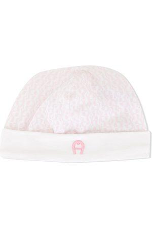 Aigner Baby Hats - Logo print stretch cap